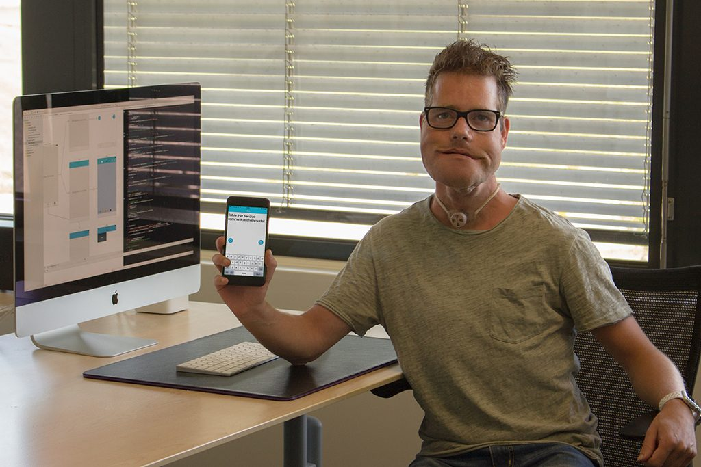 Erwin Oudshoorn has built an iPhone app due to his own speech problem